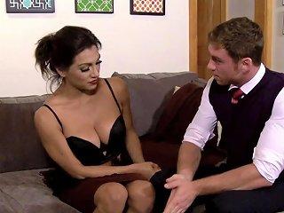 SPANKWIRE @ Glam Tranny Sensual Sucking Bfs Cock
