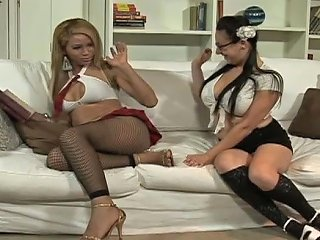 ANYSEX @ College Four Eyed Girl Gives Blowjob To Shemale Teacher