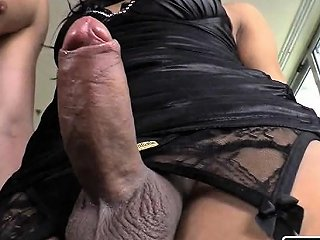 VIPTUBE @ Huge Booty Shemale With Fat Cock Fucked In Anal Real Deep