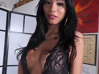 VPORN @ Gorgeous Italian Tranny Gets Cum Covered In Steamy Fuck Vporn Com