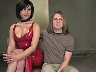 BRAVOTEENS @ Dominant Tranny Playign With A Submissive Long Haired Dude