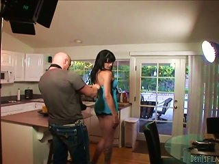 ANYPORN @ Lewd Tranny Morgan Bailey Gets Fucked In All Positions In The Kitchen