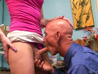 ANYPORN @ Tattooed  Tranny Chelsea Marie Blows And Gets Banged Hard