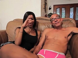 DRTUBER @ Busty Black Tranny Analfucked In Round Ass