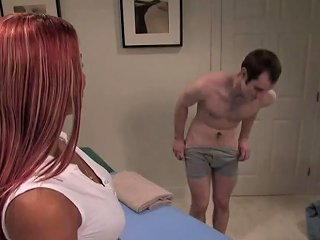 TRANNYONE @ Submissive Dude Receives An Unforgettable Massage From Yummy Trans Babe